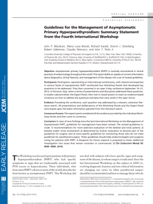 Guidelines for the Management of Asymptomatic Primary Hyperparathyroidism: Summary Statement from the Fourth International Workshop